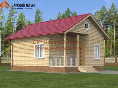 Одноэтажный дом из бруса 6х8