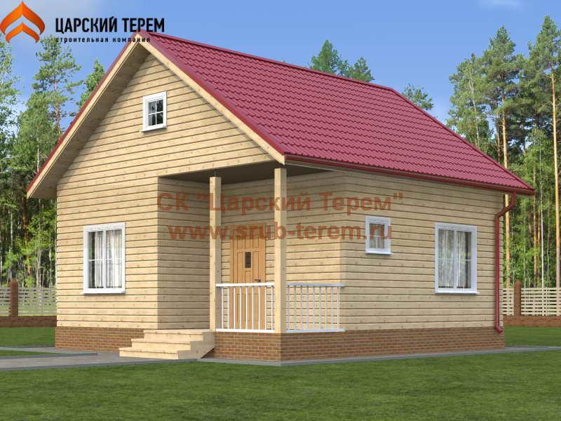Одноэтажный дом 7х7 из бруса