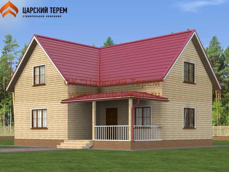 Г-образный дом из бруса 9 на 11,5