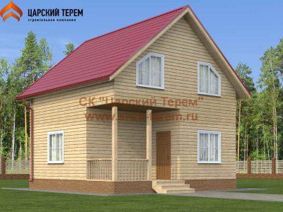 Проект дома 7 на 7 с террасой