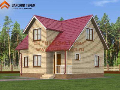 Деревянный дом 6х9 с мансардой из бруса