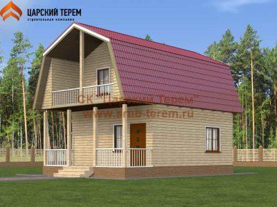 Дом из бруса 7х6 с мансардой