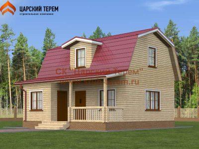 Дом 8х8 с верандой