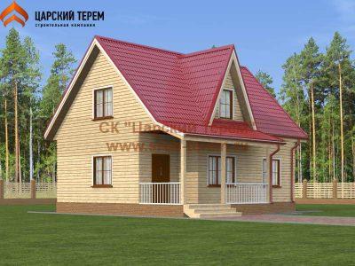 Проект дома 7 на 9,5 из бруса