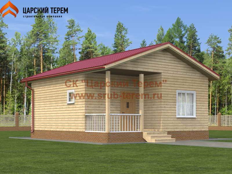 Одноэтажный дом из бруса 7 на 8
