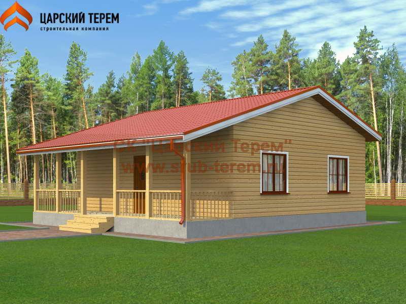 Одноэтажный дом 8х9 с двумя спальнями | Д159