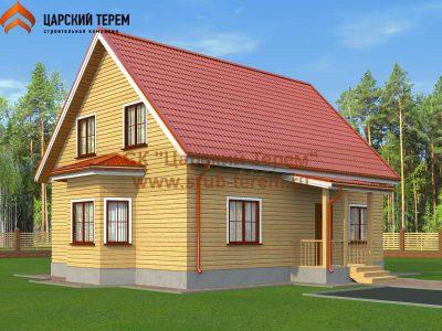 Деревянный брусовой дом 8х10 | Д158