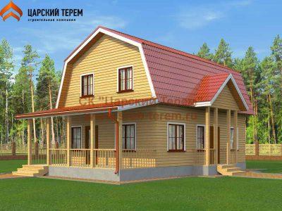 Дом из бруса с 6 спальнями 7х11,5