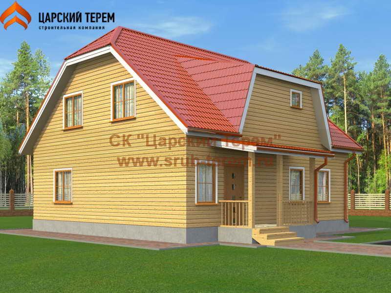 Дом из бруса 10х10 с котельной | Д155