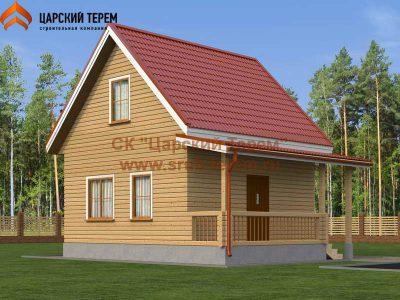 Брусовой дом 6х6 с мансардой | Д154