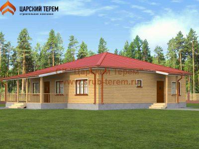Одноэтажный дом 12х12 с тремя спальнями | Д153