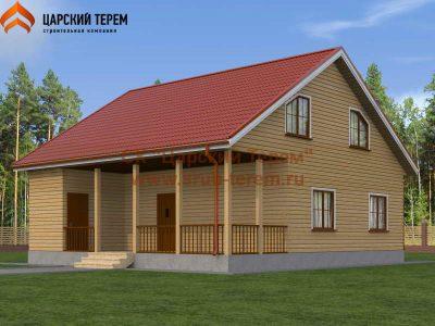 Дом из бруса 10х11 с мансардой