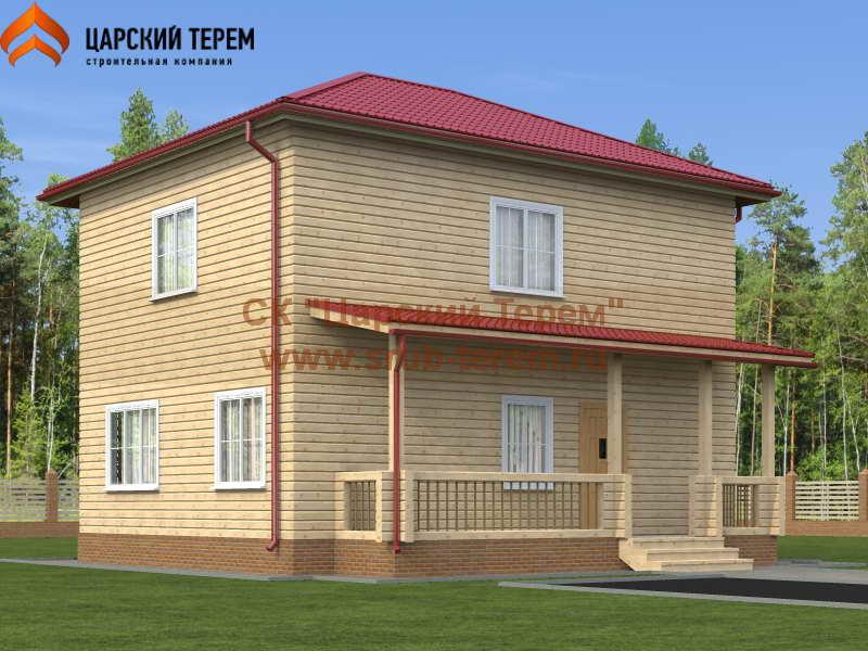 Двухэтажный дом из бруса 7х9
