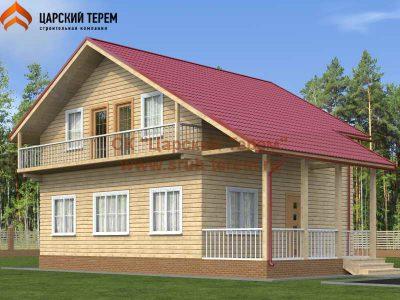 Дом 8 на 8 в полтора этажа