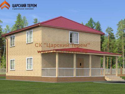 Двухэтажный дом 9х9 из бруса