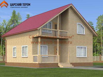 Проект дома 9х9 из бруса с котельной