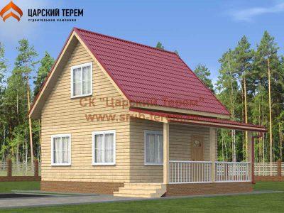 Дом из бруса 6х6 верандой
