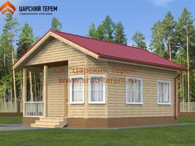 Одноэтажный дом бруса 6х7