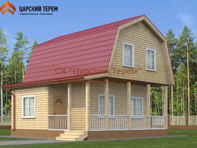 Дом 6 на 7 с ломаной крышей