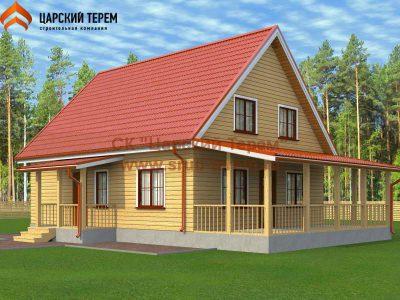 Типовой проект дома 8х10 с мансардой | Д165