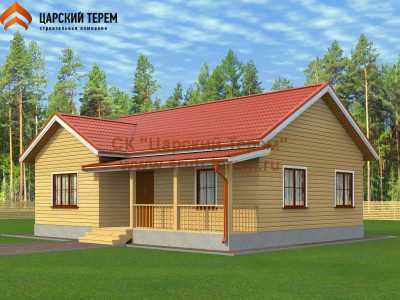 Одноэтажный дом 8,5х11 из бруса | Д164